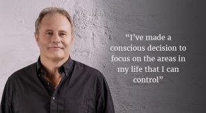I've made a conscious decision to focus on the areas in my life that I can control